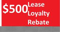 Lease Loyalty Rebate for current eligible Camry and RAV4 gas or hybrid models