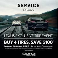 Buy 4 Tires, Save $100