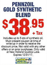 Pennzoil Gold Synthetic Blend
