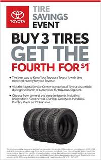 Buy 3 Tires get the 4th for $1!