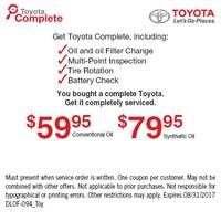 YOU BOUGHT A COMPLETE TOYOTA!! GET IT COMPLETELY SERVICED