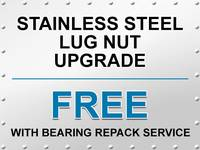 Bearing Repack Special - Free Stainless Steel Lug Nut Upgrade