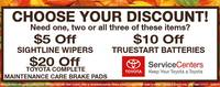 It's Toyota's Choose Your Discount time.