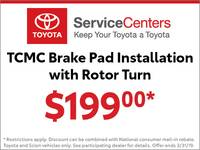TCMC Brake Pad Installation with Rotor Turn - 97306