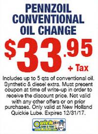 Pennzoil Conventional Oil Change