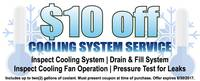 $10 Off Cooling System Service
