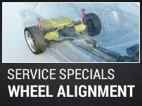 SAVE on 4 WHEEL ALIGNMENTS
