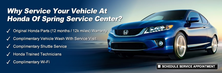 Get your needed repairs TODAY at Honda of Spring and SAVE!!!