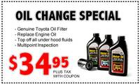 Oil Change Special!