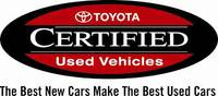 TOYOTA CERTIFIED USED VEHICLES SPECIALS