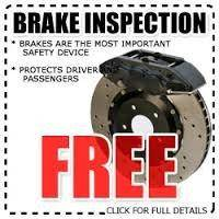 FREE Multi Point Inspection with FREE Brake Inspection