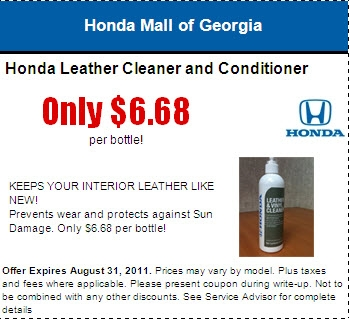 Honda Leather Cleaner