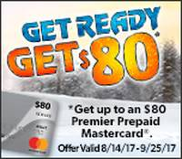 Get up to an $80 Prepaid Card